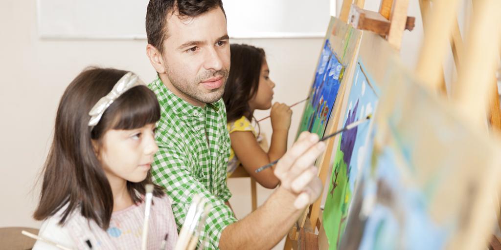 Teacher-painting