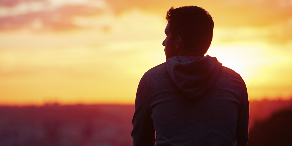 man-in-front-of-sunset