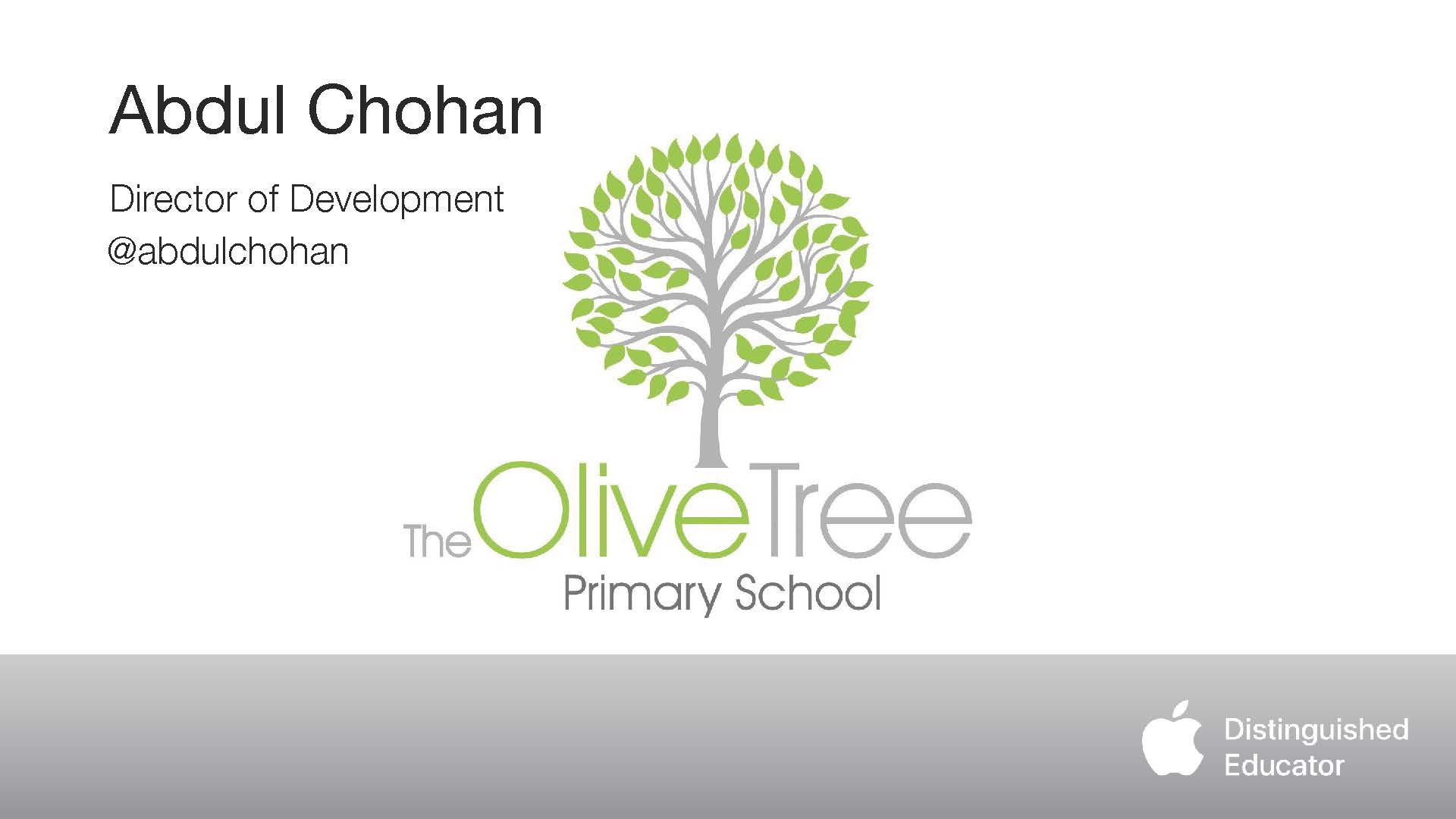 First page - The Olive Tree Primary School