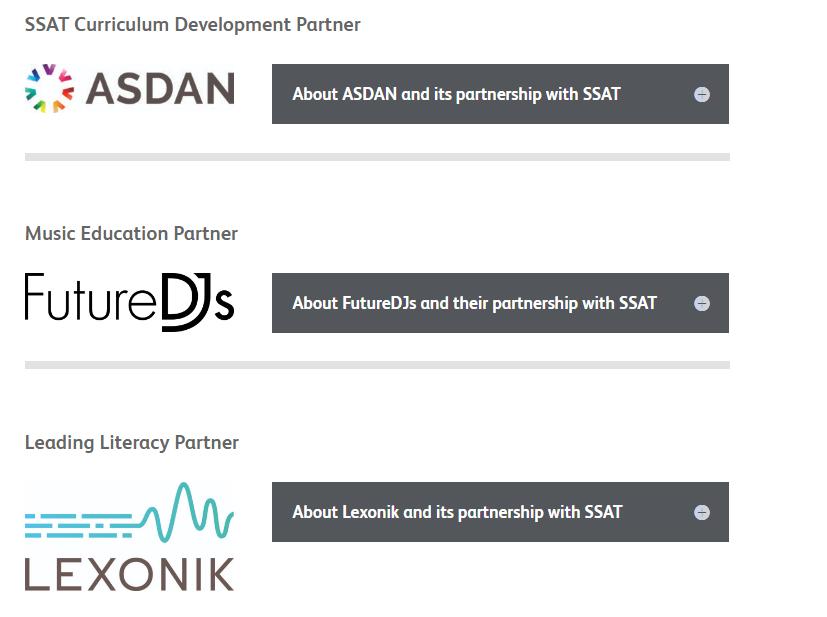 SSAT Our Partners