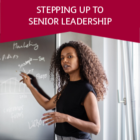 Stepping up to senior leadership