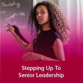 Stepping up to senior leadership